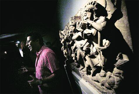 Naman Ahuja at his exhibition, Body of Indian Art.