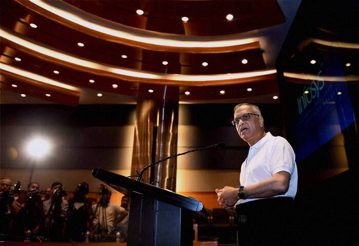 Chairman Narayan Murthy steps down as Infosys names first external CEO