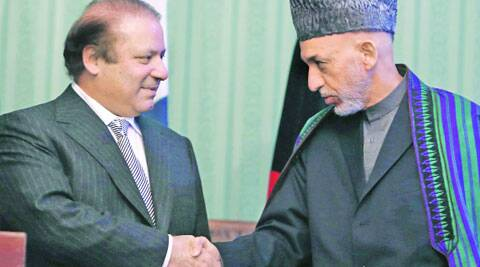 Nawaz Sharif (left) and Hamid Karzai have a pragmatic approach in dealing with the Talibans.