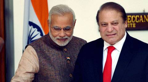 """Nawaz Sharif declared that he had had """"useful and constructive"""" talks with prime minister. But the fact that he did not mention the """"K"""" word during his brief address to the media seems to have drawn criticism back home in Pakistan."""
