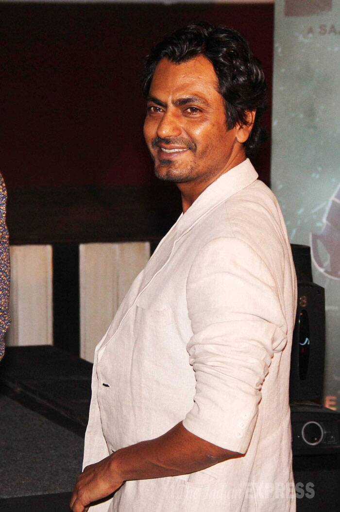 Nawazuddin Siddiqui, who will be seen in a negative role in the movie, was all smiles at the launch. (Source: Varinder Chawla)