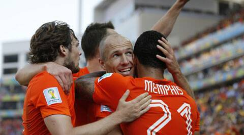 Netherlands, who are already through to last 16, defeated Chile 2-0 to top Group B. (Source: AP)