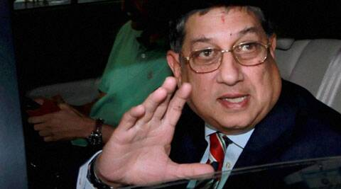 Srinivasan will have to wait for a nod from the Supreme Court before contesting for the BCCI's top post. (Source: PTI)