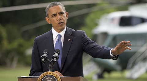 President Barack Obama talks about his administration's response to a growing insurgency foothold in Iraq. (AP)