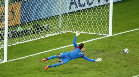 Ochoa, who has played for French club AC Ajaccio for the last three seasons but is currently listed as a free agent, was named the man of the match (Source: Reuters)