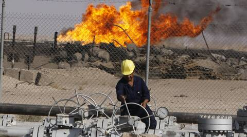 A file photo of an an oil refinery in Iraq. (Source: AP)