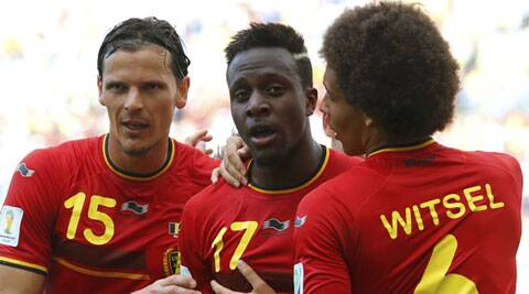 Origi (C) became the youngest player to score a World Cup goal, since Messi in 2006 (Source: Reuters)