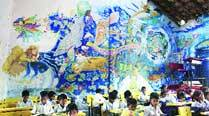 Wall art in village schools attracts students to classroom