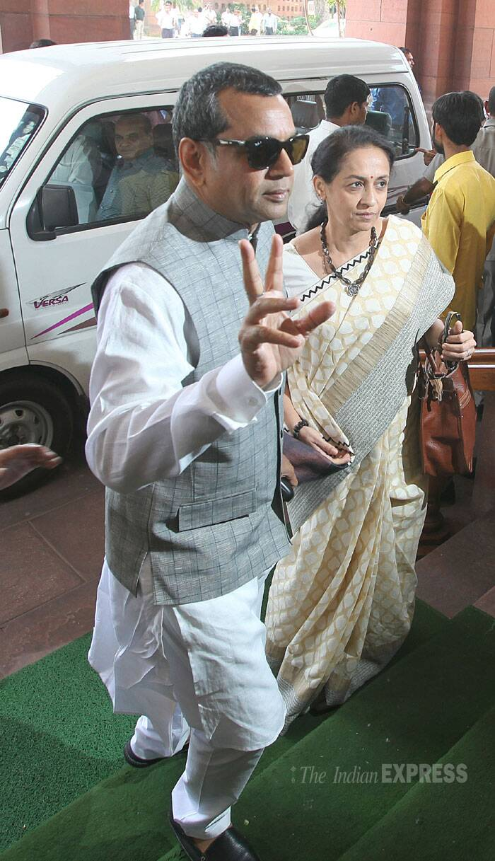 BJP MP Paresh Rawal at the Parliament house in New Delhi.  (Source: Express photo by Anil Sharma)