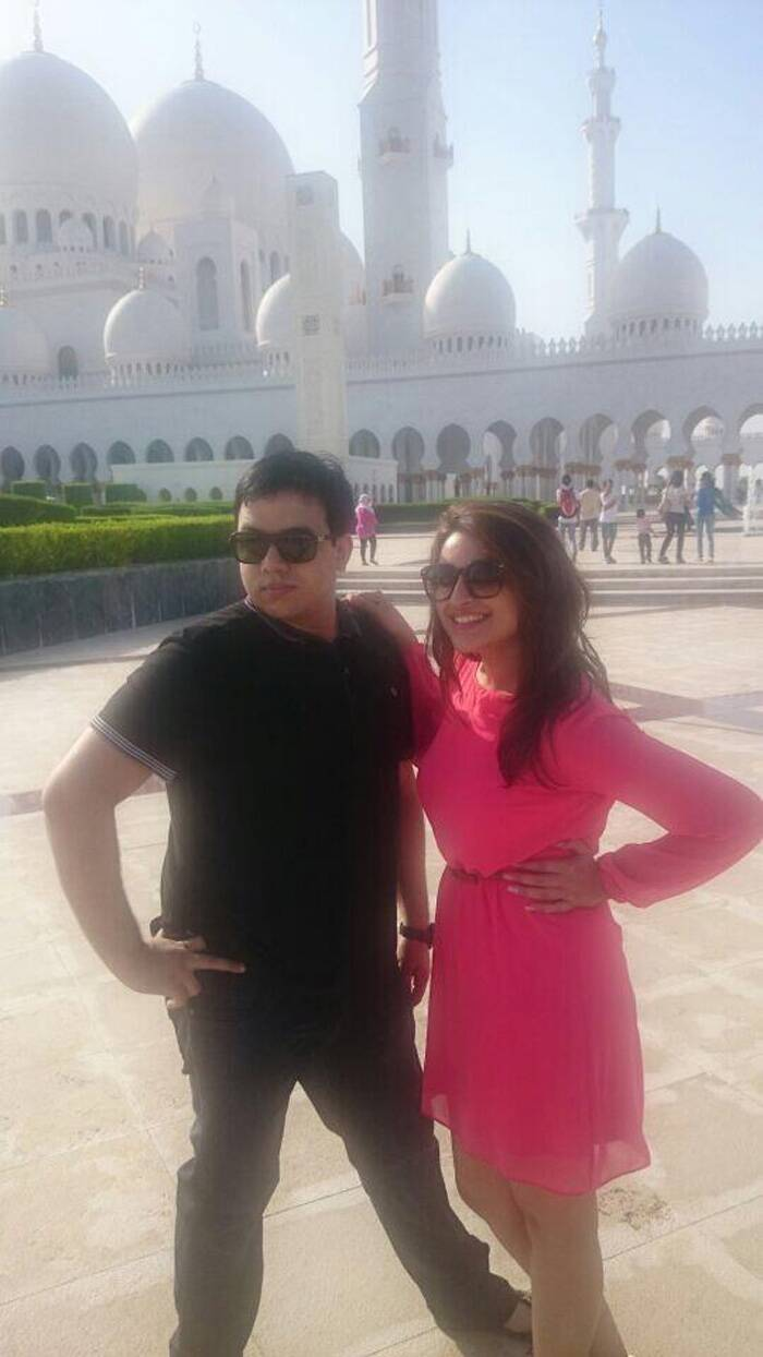 Parineeti poses with her friend Shahzaib Ali. (Source: Twitter)