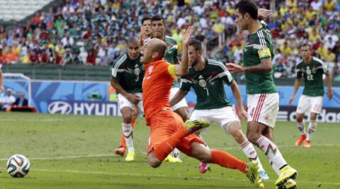 Did Robben dive or was he fouled by Marquez? (Source: AP)