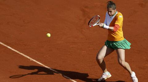 Andrea Petkovic defeated Italy's Sara Errani 6-2, 6-2 in the French Open quarters (Source: Reuters)