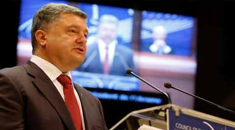 Ukrainian President Petro Poroshenko delivers his speech at the Parliamentary Assembly of theCouncil of Europe in Strasbourg, eastern France. (Source: AP)