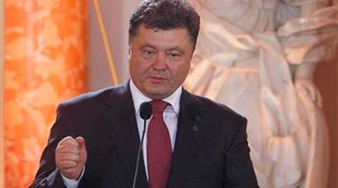 Petro Poroshenko, a 48-year-old confectionery tycoon sworn isn as Ukraine's President. (source: AP)
