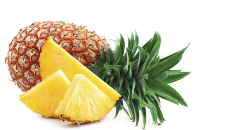 Pineapples pack a tremendous nutritional punch, containing vitamins A,C, E, and K; potassium; calcium; electrolytes and phyto-nutrients like carotene. Source: Thinkstock Images