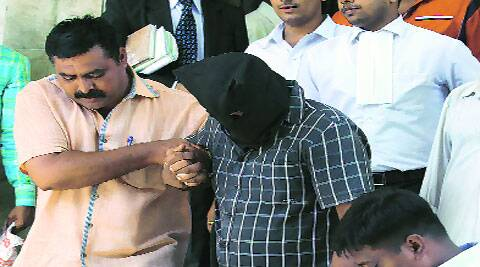 Pintu Mishra was produced in court on Thursday. (Source: Express photo by Prashant Nadkar)