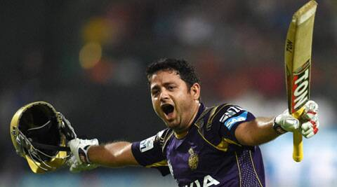 After hitting the winning runs, Piyush Chawla set off for a victory lap (Source: PTI)