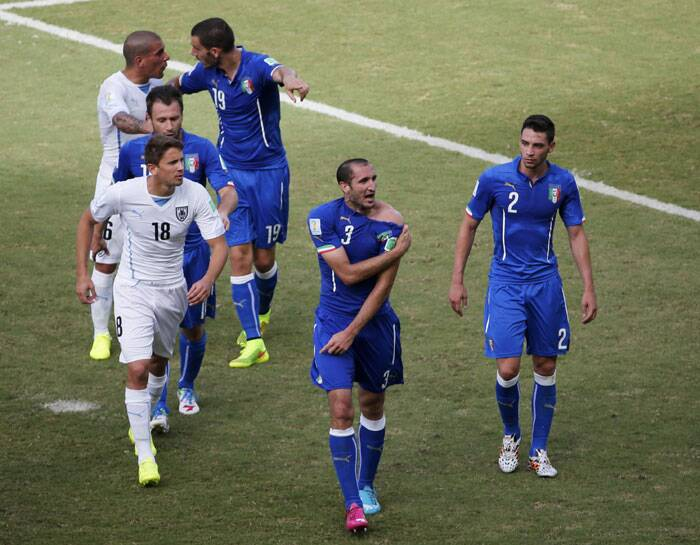 Italian players were furious about the incident and both teams were also involved in a spat. While the referee did not take any action against Luis Suarez, the Italy players and staff was left bewildered. (Source; Reuters)