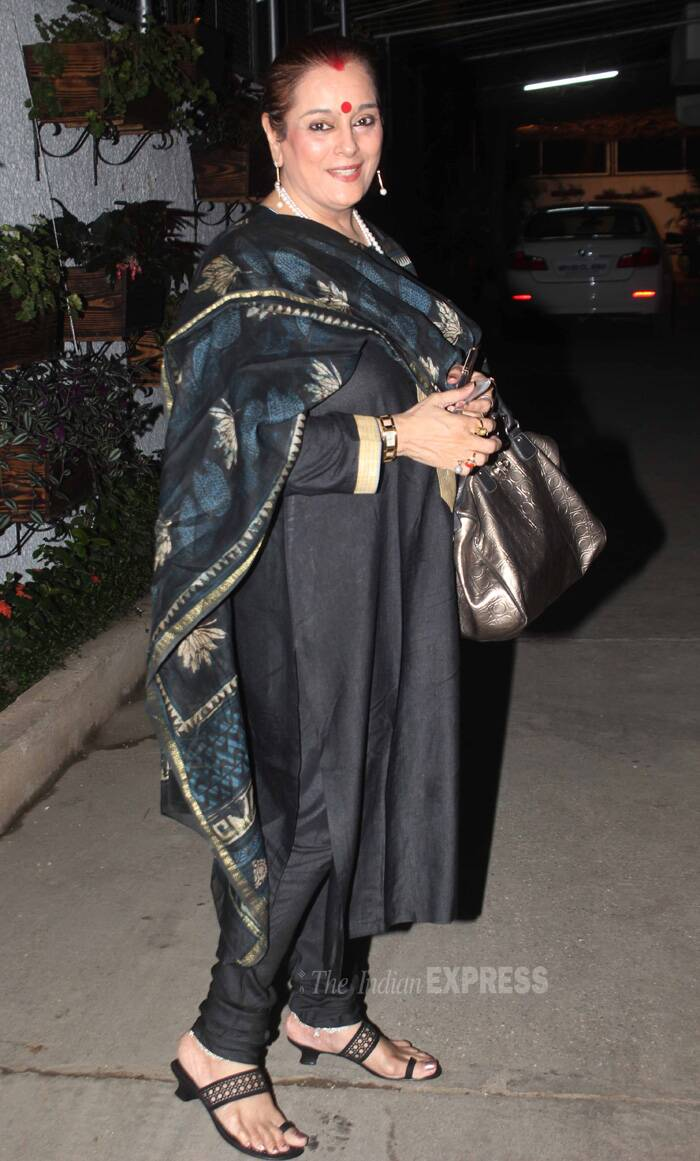 Sonakshi's mother Poonam Sinha caught a special screening of her daughter's film. (Source: Varinder Chawla)