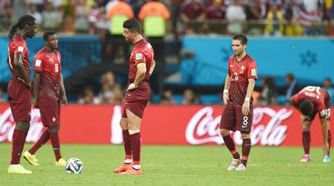 Ronaldo (C) gave a candid assessment after the game in Manaus, where Silvestre Varela's equaliser in added time kept alive Portugal's slender hopes of advancing. (Source: AP)