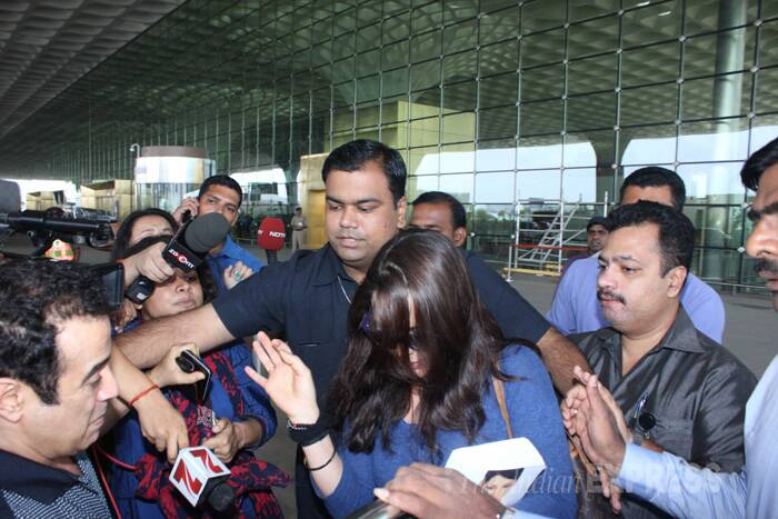 "Later in a Facebook post, Preity wrote, ""Exhausted but happy to finally be back home in Mumbai. I would like to apologise to the media but it will not be possible for me to make any comments or statements as this investigation is still on. Please cooperate and please don't call my staff or friends non-stop as they have requested me to make this appeal to you all on their behalf."" (Source: Varinder Chawla)"