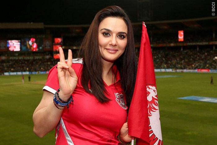 The dimples were back during the innings break, but KKR had plans to take the smile off Preity's face (Source: BCCI/IPL)