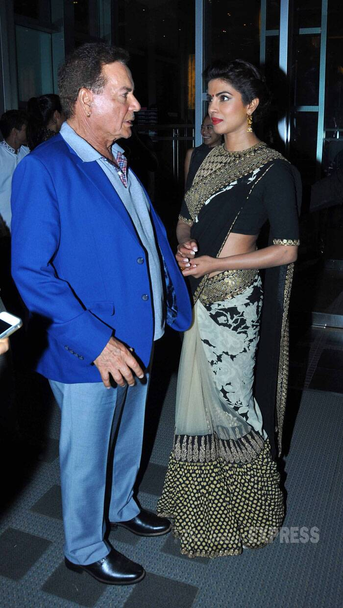 Priyanka Chopra speaks to Salman Khan's  father, scriptwriter Salim Khan. (Source: Varinder Chawla)