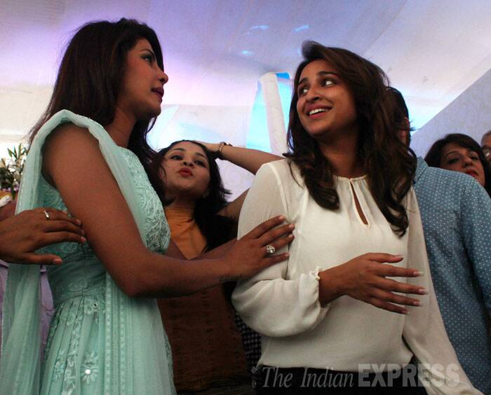 Priyanka's cousin and actress Parineeti Chopra also arrived to support her family. (Source: Varinder Chawla)