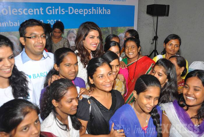 Actress Priyanka Chopra, who is the goodwill ambassador of UNICEF in India, attended the 'Deepshikha' programme on Monday, (June 9). (Source: Varinder Chawla)