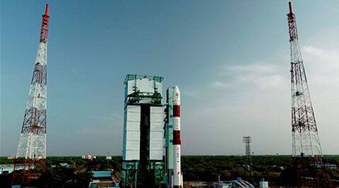 ISRO's PSLV C 23 carrying a French Earth Observing satellite and four others from Singapore, Canada and Germany. (Source: PTI photo)