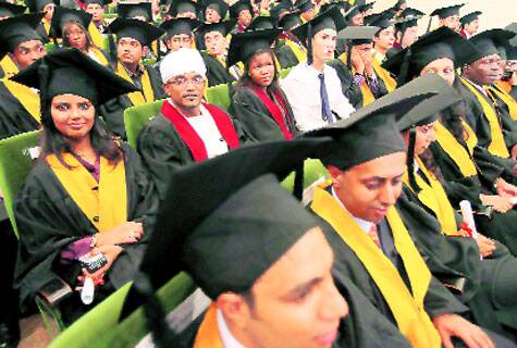 Students from across the world at a convocation at Symbiosis Source: Express Archive