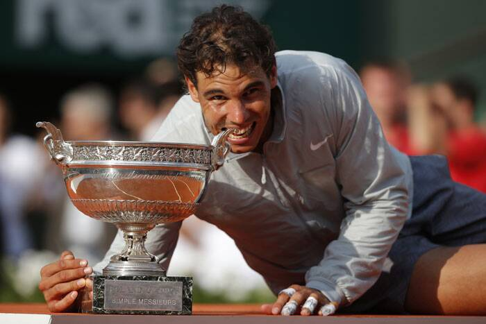 With this win, Nadal takes his French Open tally to 9. He has played 10 tournaments and won 9 out of those (Source: AP)