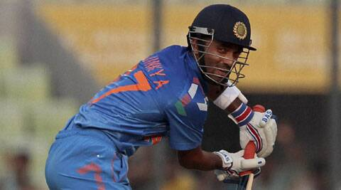 Ajinkya Rahane, who scored a 70-ball 64 at top of the order, said that first game of any series is a challenge (Source: AP)