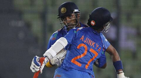 Robin Uthappa's fifty, his sixth in this format, came in 42 balls with three fours and as many sixes (Source: AP)