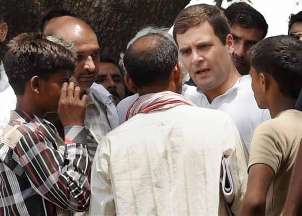 Rahul Gandhi meets family members of Badaun gangrape victims