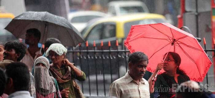 Dark heavy clouds hover over Mumbai ahead of monsoon