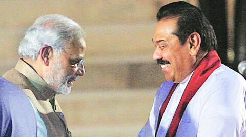 Modi didn't need an interpreter for Rajapaksa's English but he spoke in Hindi with an interpreter. File