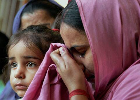 Reena Choudhary, wife of Rajesh Kumar who is stuck in Iraq. (Source: PTI)