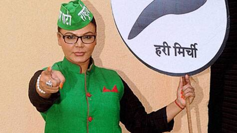 Rakhi Sawant managed to gather mere 1,995 votes for her independent party Rashtriya Aam Party. (Source: IE archive)