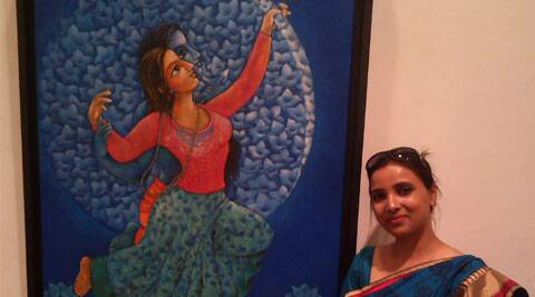 Artist Neeta Singh reinterprets Ramayana with her work Source: Express Photo