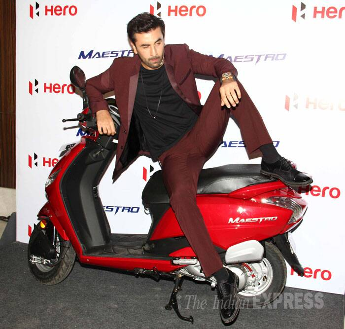 Ranbir, who is making headlines every other day over his relationship with Katrina Kaif,  seems more than comfortable on the two-wheeler. (Source: Varinder Chawla)