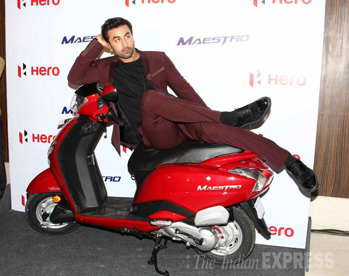 Bollywood actor Ranbir Kapoor, who is the ambassador of a bike brand, endorsed the vehicle at a press meet in a suburban hotel on Monday (June 23). So girls are you ready to ride in the backseat with this 'Saawariya'? (Source: Varinder Chawla)