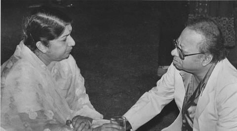 Music Director R.D. Burman with singer Lata Mangeshkar. (Source: Express Archive)