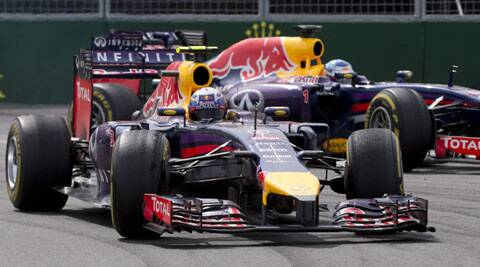 Daniel Ricciardo won the Canadian Grand Prix while his Red Bull teammate Sebastian Vettel finished third (Source: AP)