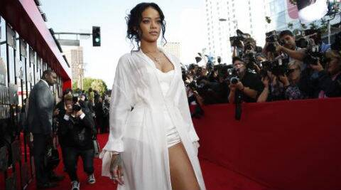 A poster of Rihanna advertising her perfume has been restricted by the advertising watchdog. (Source: Reuters)