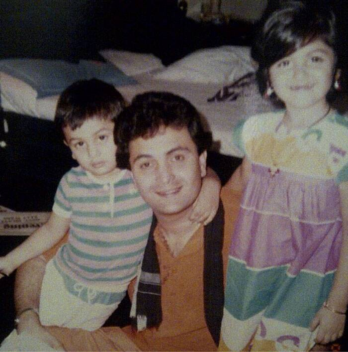 Dad's munchkins- Ranbir and Riddhima. (Source: Instagram)