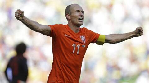 Robben was at the centre of two incidents in the World Cup last-16 clash in Fortaleza. (Source: AP)