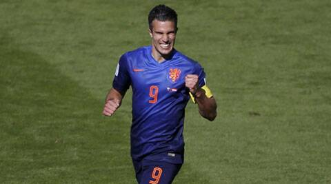 Van Persie, suspended for the Chile game after picking up two yellow cards in the first two matches, brushed off talk about becoming the top scorer at the tournament. (Source: Reuters)