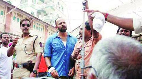 Rohit Shetty and  Ajay Devgn gear up for an outdoor sequence