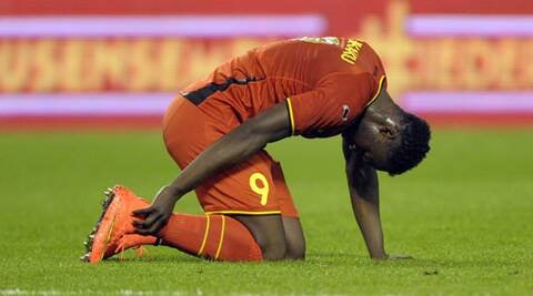 Romelu Lukaku of Belgium sustained a sprain in his right ankle last weekend. (Source: Reuters)